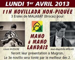 mugron affiche novillada sp 2013