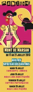 Affiche autres spectacles taurins Madeleine 2013
