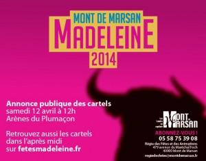 Mont de Marsan annonce des cartels 2014