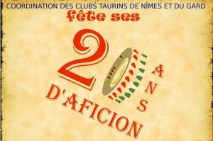 Nimes_club taurin_ affiche 20 ans