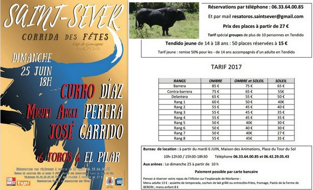 Saint Sever-tarif2017