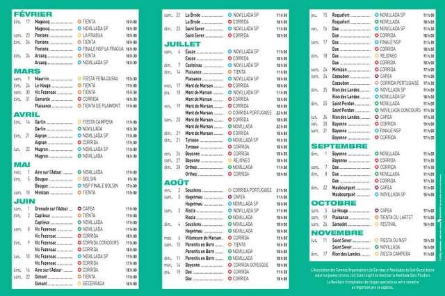 Calendrier Corrida Espagne 2021 Noticias : calendrier de la temporada taurine 2019 dans le Sud Ouest |