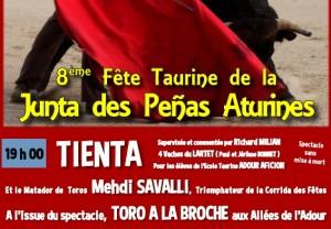 Aire sur l'adour-tienta2014-junta
