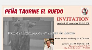 Tyrosse-El Ruedo-conférence-Zocato