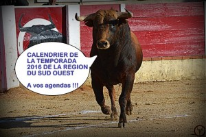 Toros_calendrier 2016-sud ouest