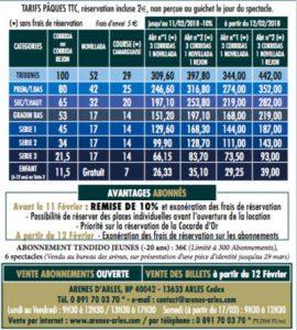 Arles-tarif2018