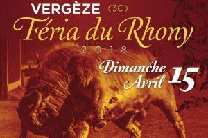Vergèze-affiche feria 2018