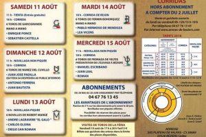 Béziers-50ans-tarif