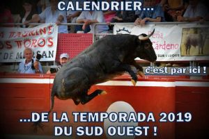 calendrier-Sud Ouest-2019